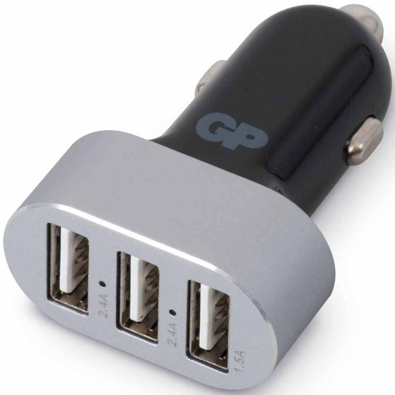 GP USB autolader CC611 met 3 poorten 2,4 A/1,5 A 150GPCC61C1