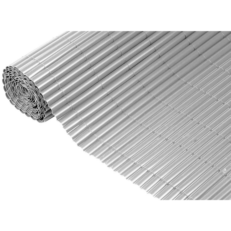 Nature Tuinscherm 1x3 m PVC grijs 6050370