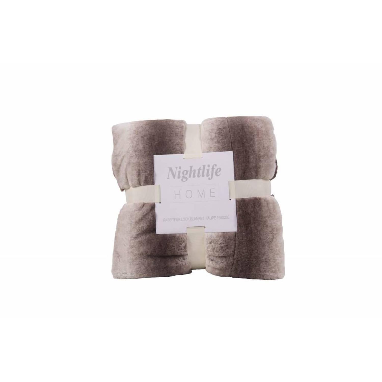 Nightlife Woondeken Faux Fur Taupe 150x200