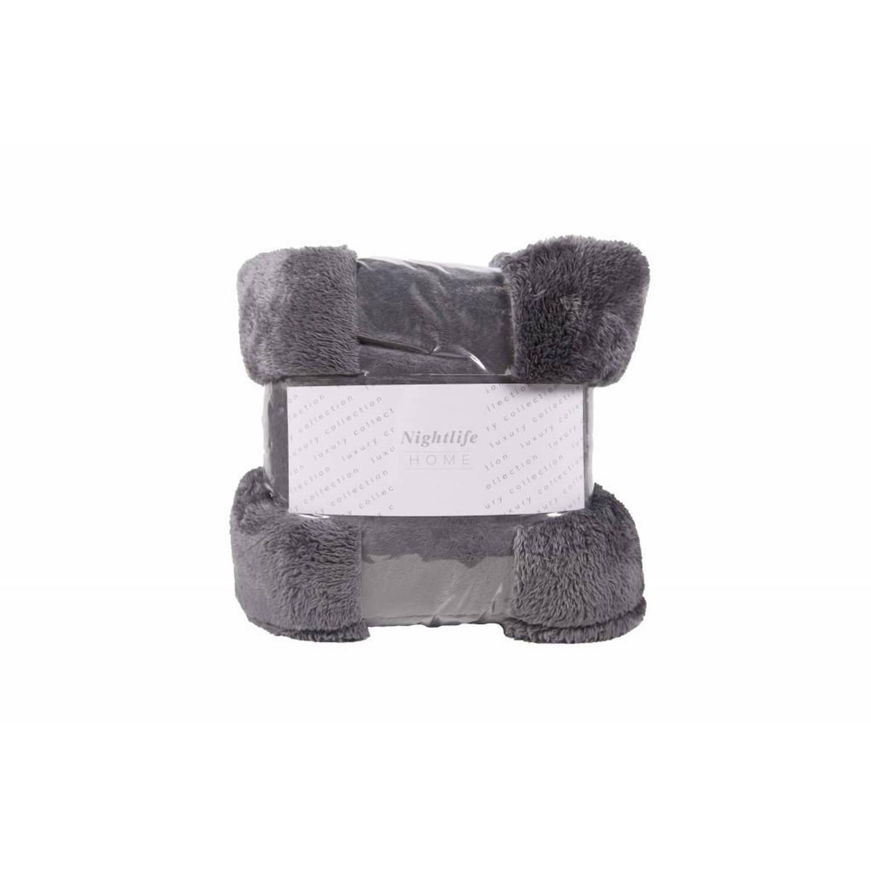 Nightlife Woondeken Fluffy Antraciet 150x200