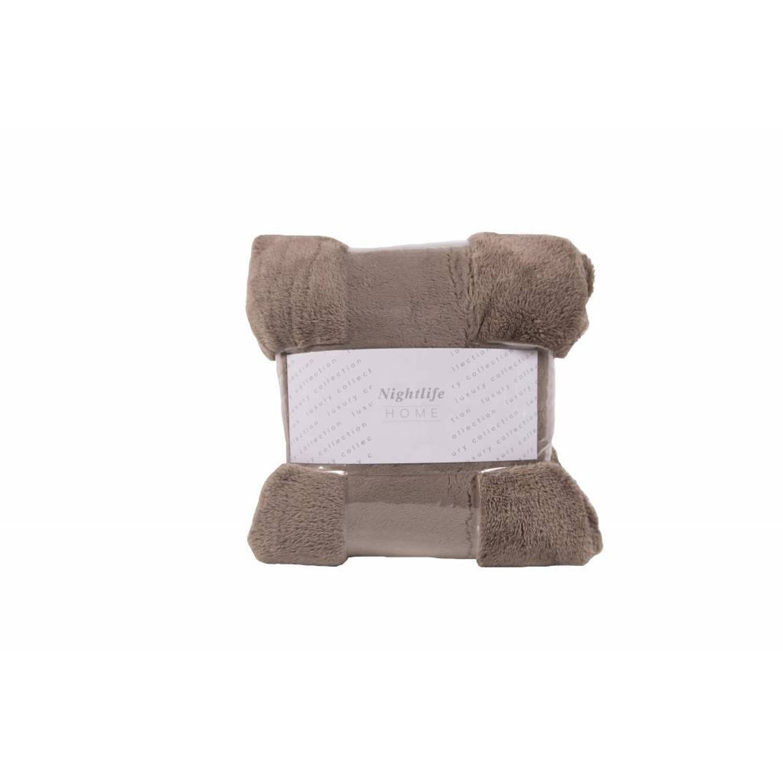 Nightlife Woondeken Fluffy Taupe 150x200