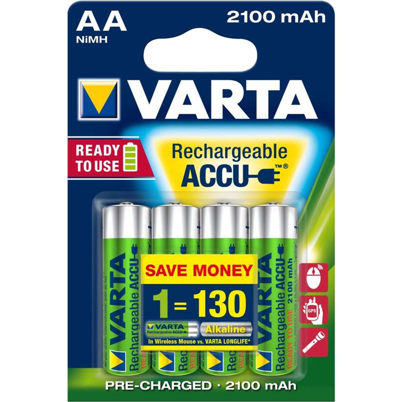Varta Oplaadbare Batterijen AA 2100 mAh Blister per 4