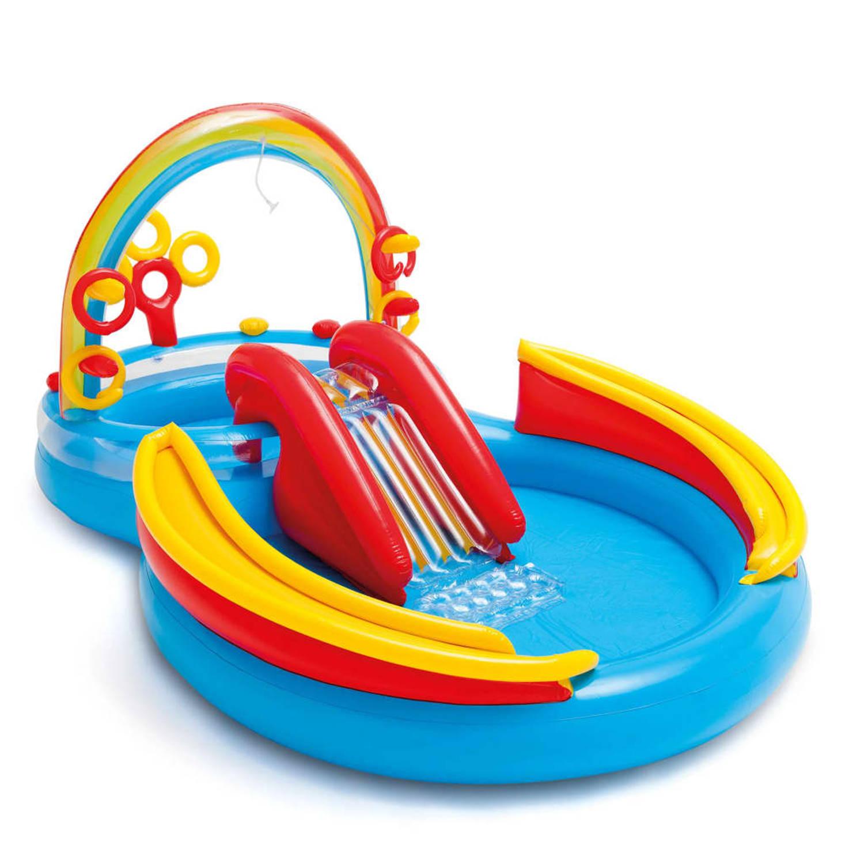 Intex Opblaaszwembad Rainbow Ring Play Center 297x193x135 cm 57453NP