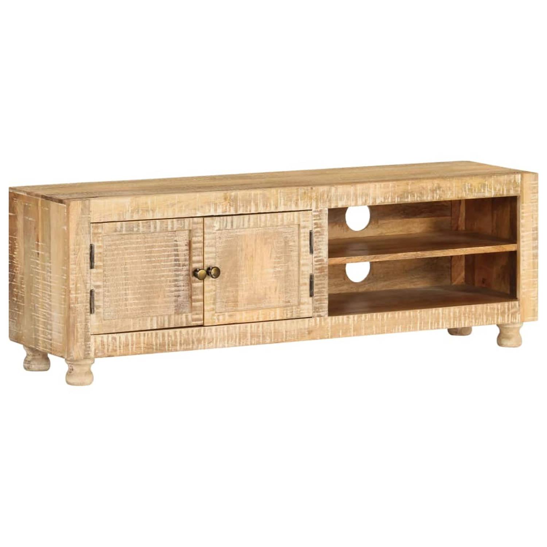 vidaXL Tv-meubel 118x30x40 cm ruw mangohout