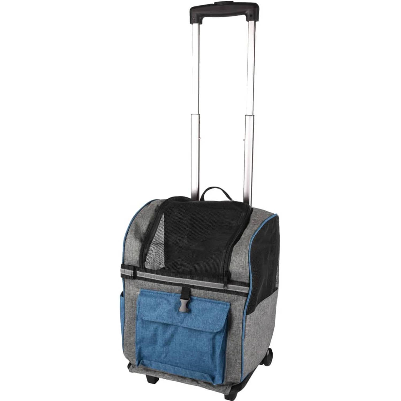 FLAMINGO trolley voor gezelschapsdieren & rugzak Kiara 2-in-1