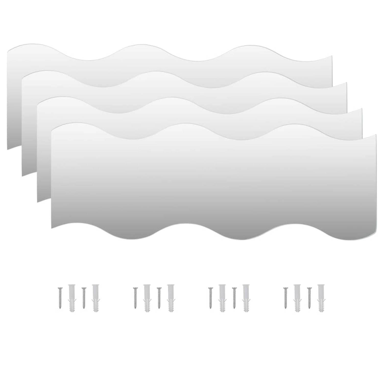 vidaXL Wandspiegels golfvormig 60x18,5 cm glas