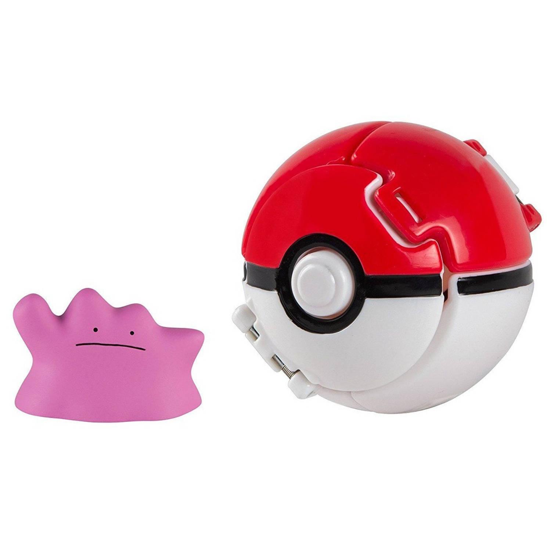 Tomy speelfiguur Pokémon Ditto in Pokéball 7 cm
