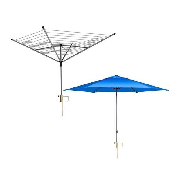 Parasol / droogmolen grondpen met handvat - 0 tot 35 mm - parasolvoeten / grondanker