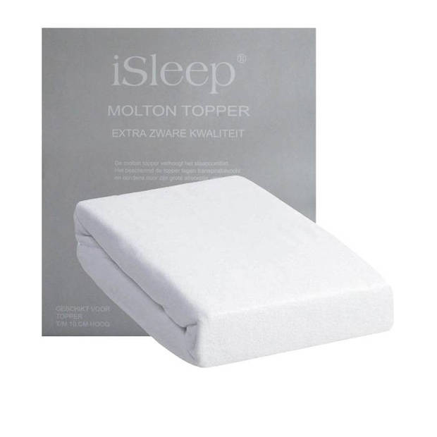 iSleep Molton Topper - Wit - 160x220