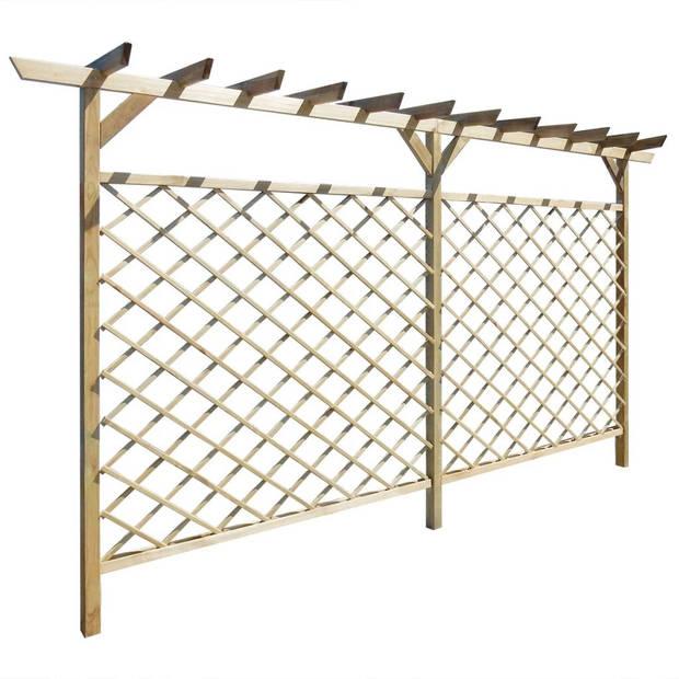 vidaXL Tuinhek met latwerk en pergola hout