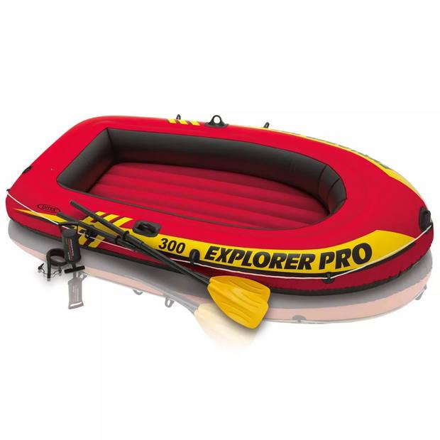Intex Explorer Pro 300 opblaasboot met peddels en pomp 58358NP
