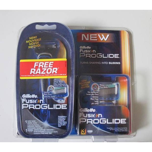Gillette Fusion ProGlide systeem + 4 scheermesjes