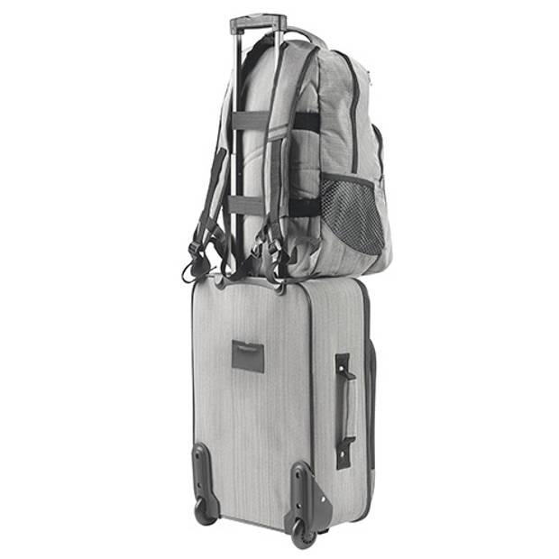 "TravelZ - Hipster - Rugtas Rugzak - 28 liter - 17"" laptopvak - Grijs"