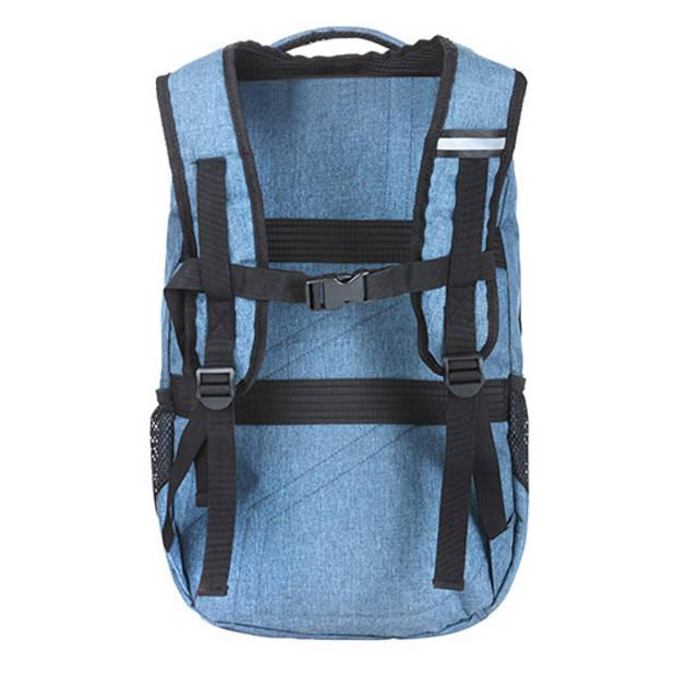 "TravelZ - Hipster - Rugtas Rugzak - 28 liter - 17"" laptopvak - Jeans Blauw"