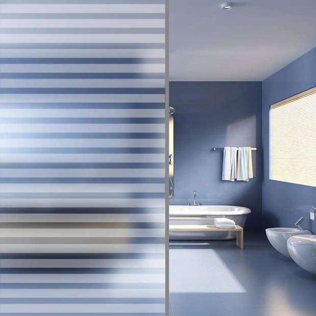 vidaXL Privacyfolie matte strepen zelfklevend 0,9x5 m