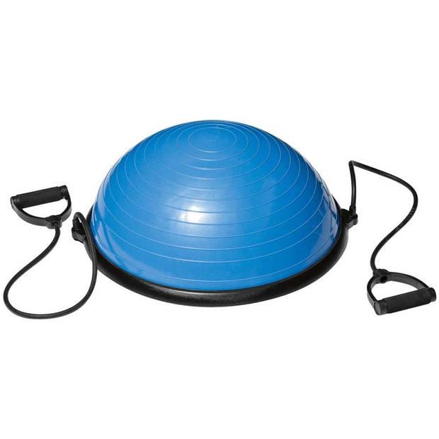 VirtuFit Balanstrainer Pro - Balansbal - met Fitness Elastieken en Pomp - Blauw