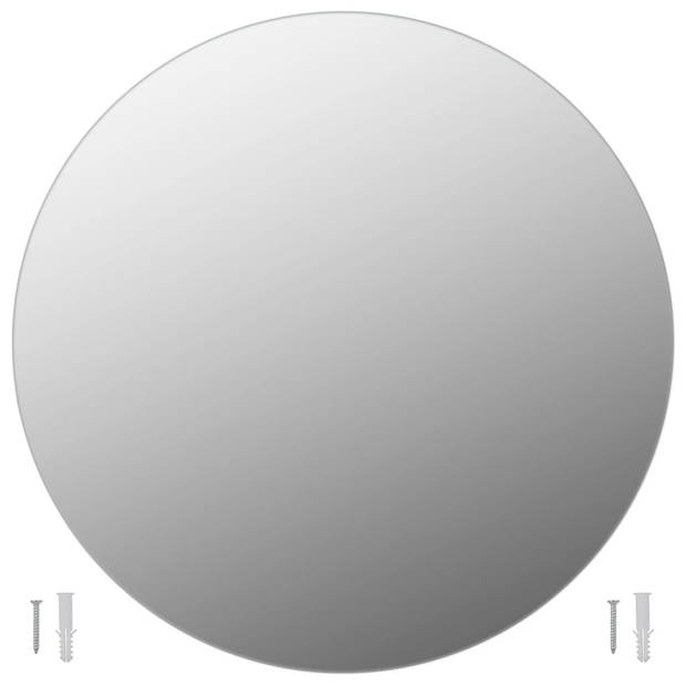 vidaXL Wandspiegel rond 70 cm glas