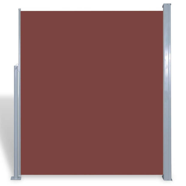 vidaXL Zijluifel uittrekbaar 180x300 cm bruin