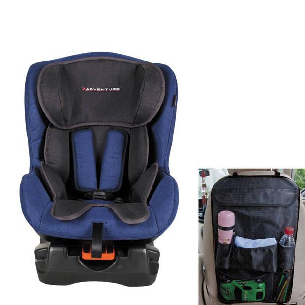 COMBI DEAL! XAdventure Autostoel Ranger Jeans Blauw + Gratis Auto Organiser
