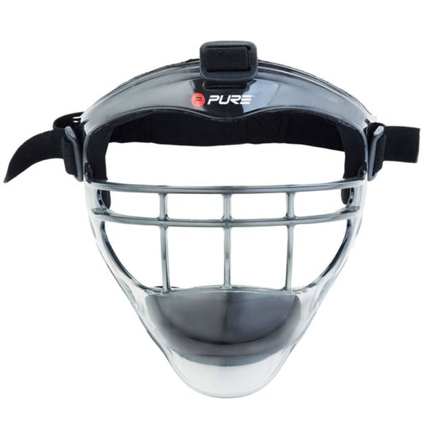 Pure2Improve honkbal gezichtsmasker unisex grijs/zwart