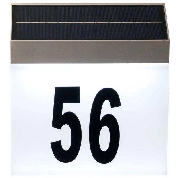 Luxbright Solar LED-huisnummerlamp Cornwall wit 34106