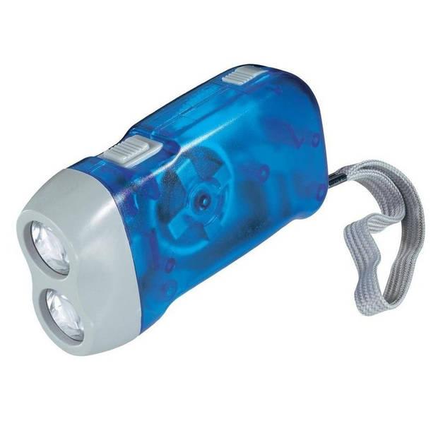 Knijpkat / dynamo zaklamp met dubbele LED
