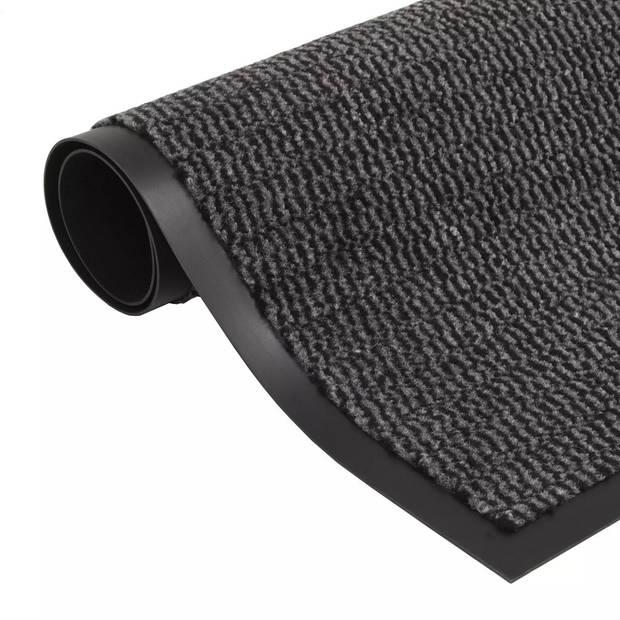 vidaXL Droogloopmat rechthoekig getuft 90x150 cm antraciet