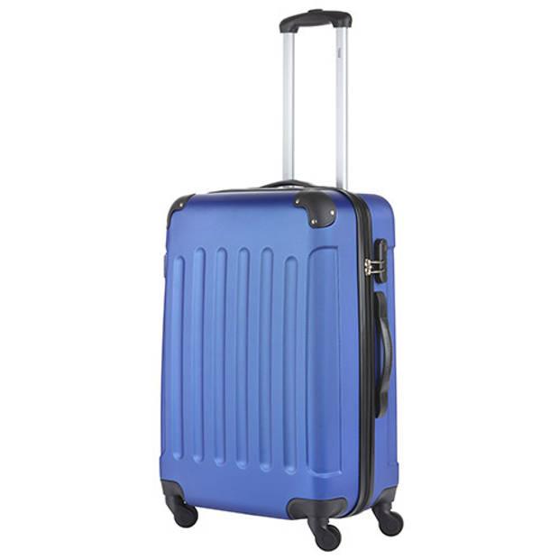 TravelZ - Lichtgewicht ABS koffer - Reiskoffer Trolley 66cm - Gevoerde binnenkant - Blauw
