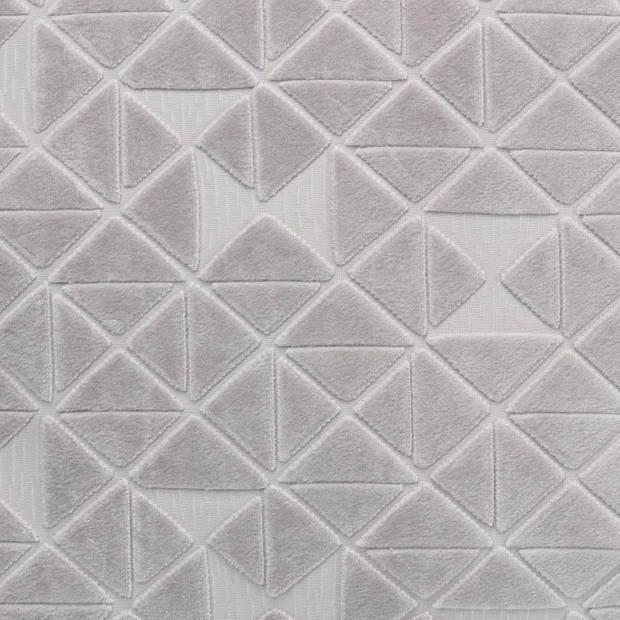 Dutch Decor Kussenhoes Jacky 45x45 cm lichtgrijs