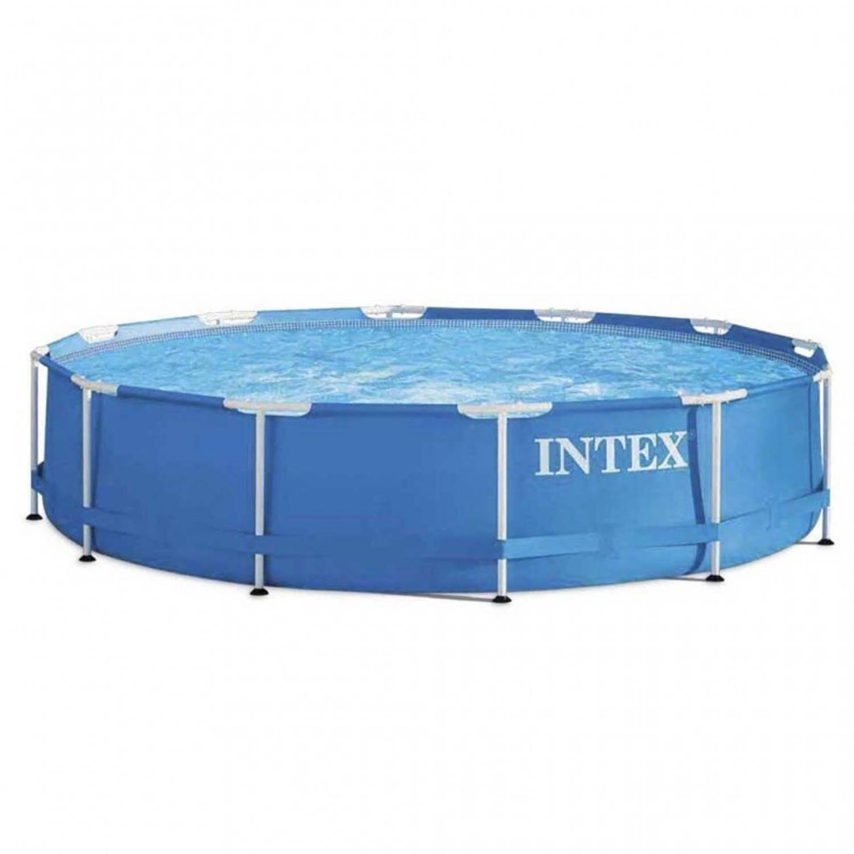 Intex Opzetzwembad Metal Frame Ø457 X 84 Cm Blauw