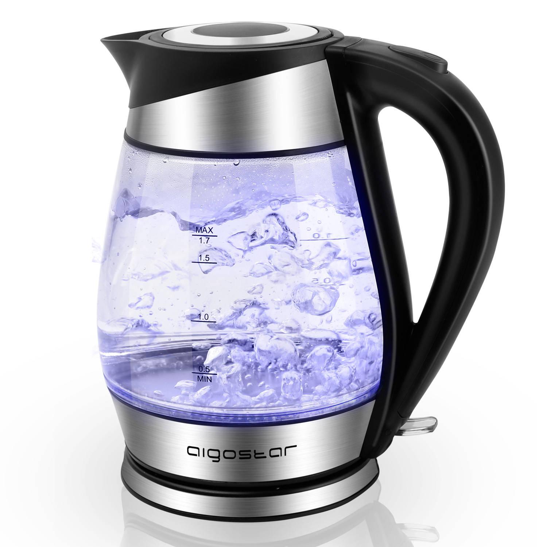 Afbeelding van Aigostar Chubby 30LCZ- Glazen Waterkoker met LED - Zwart