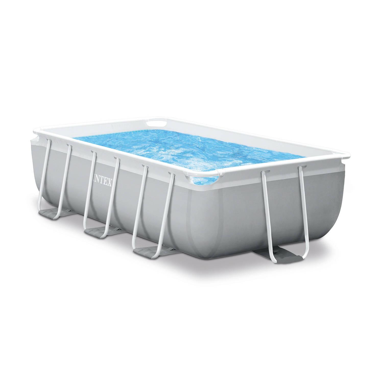Intex opzetzwembad met accessoires Prism Frame 488 x 244 x 107 cm grijs