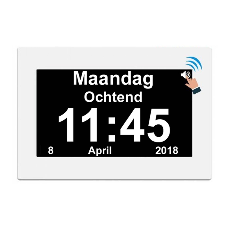 Stelcomfort Digitale kalenderklok met Nederlandse spraak