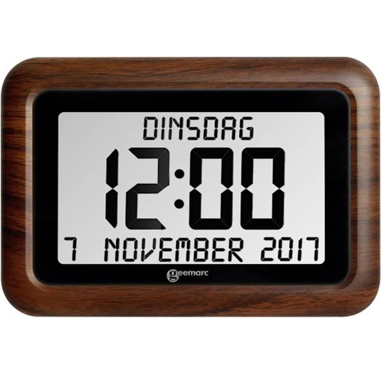 Korting Digitale Kalenderklok Houtlook