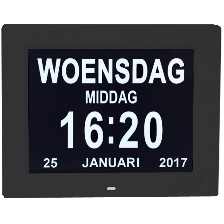 Digitale Dementieklok - Kalenderklok - Zwart