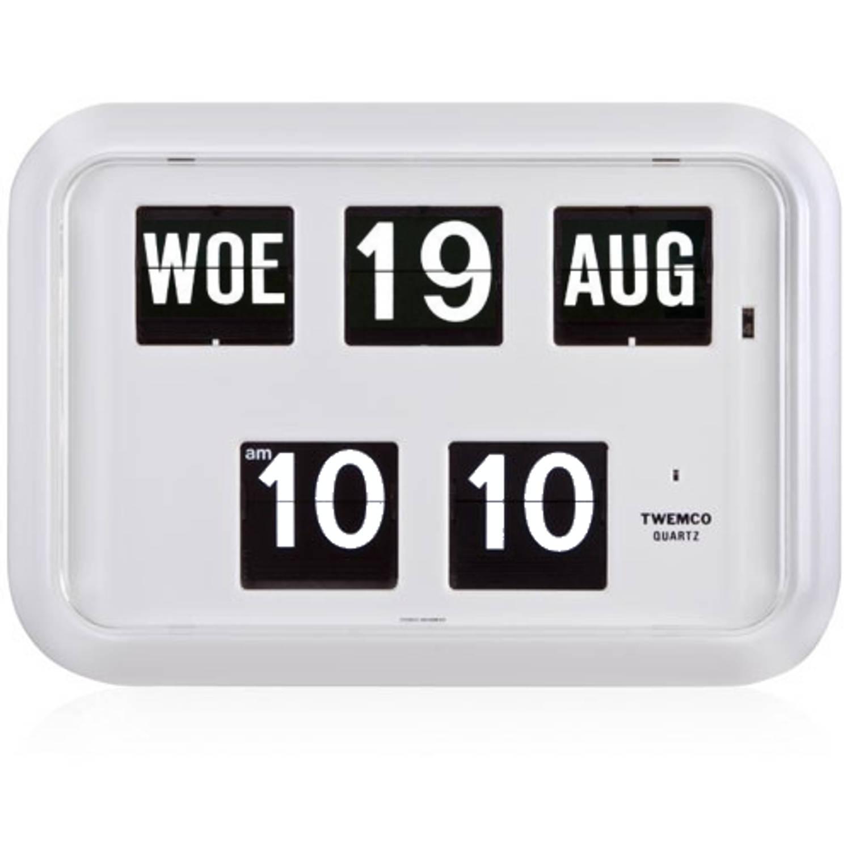 Twemco QD-35 Kalenderklok - Wit