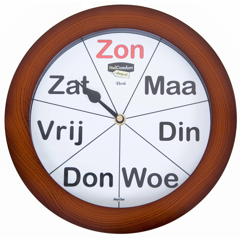 Dayclox Analoge kalenderklok met dagnotitie