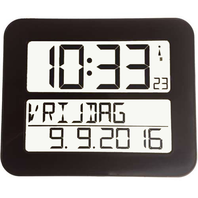 Radiografische kalenderklok TF2000 Zwart Timeline Maxx