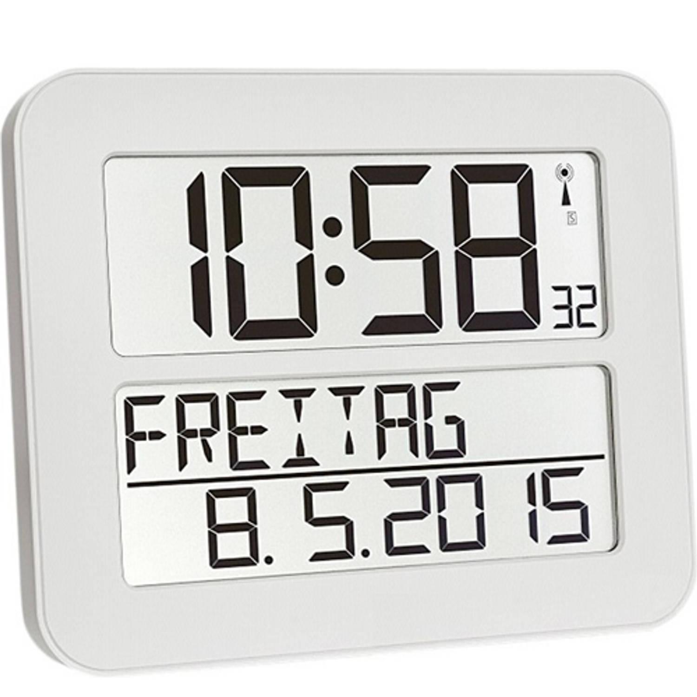 Radiografische kalenderklok TF2000 Wit Timeline Maxx