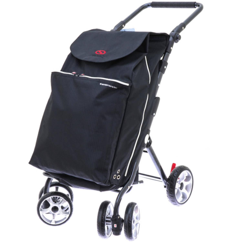 Afbeelding van 2Mobility boodschappenwagen Deluxe - Zwart
