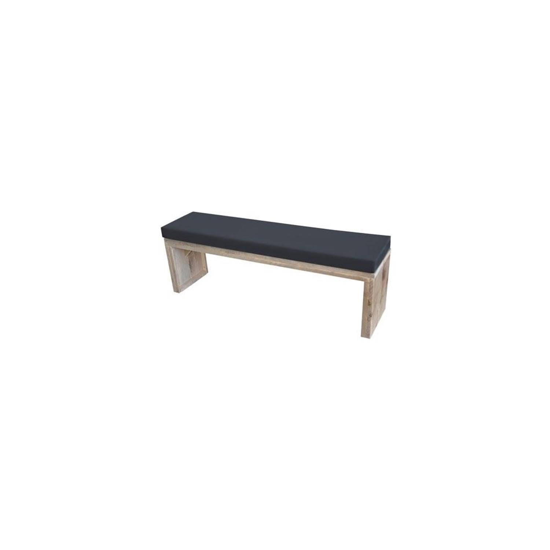 Wood4You loungebank Zaandam bouwpakket steigerhout met kussen 150cm