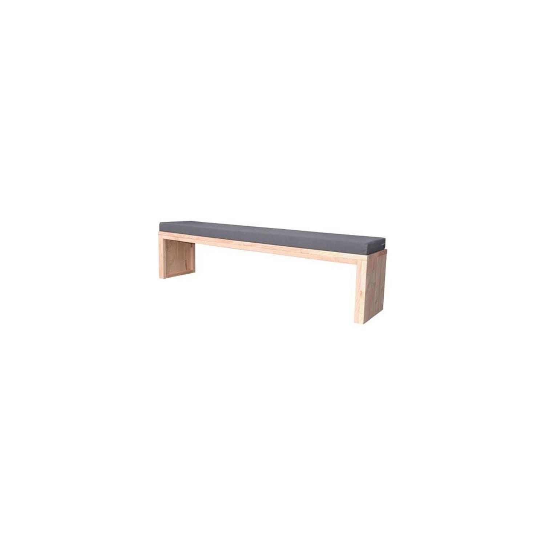 Wood4You loungebank Zaandam bouwpakket douglashout met kussen 180cm