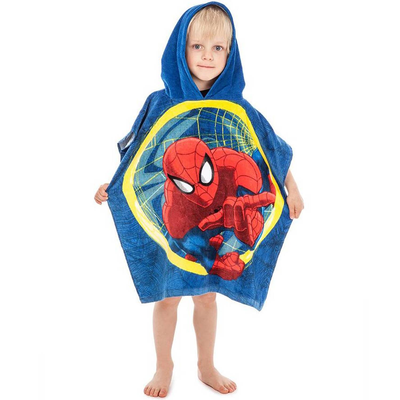 Spider-Man Web - Poncho - 50 x 115 cm - Blauw