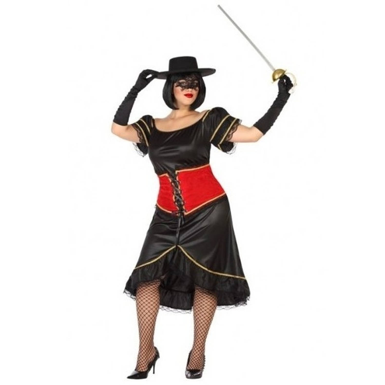 Carnavalskleding Xl Dames.Spaanse Gemaskerde Held Kostuum Outfit Voor Dames Plus Size