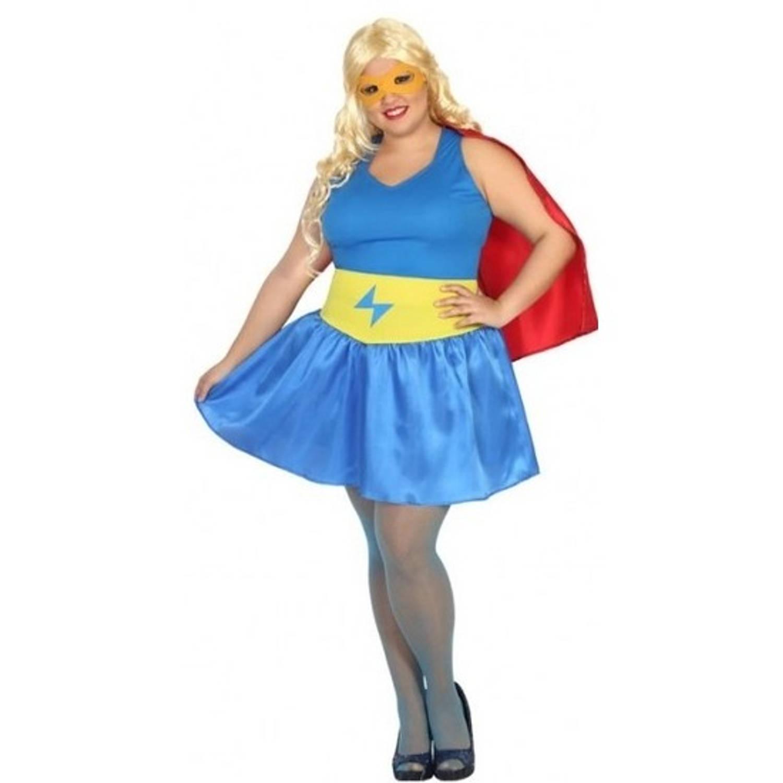 Carnavalskleding Xl Dames.Verkleed Kostuum Grote Maten Supergirl Kostuum Voor Dames