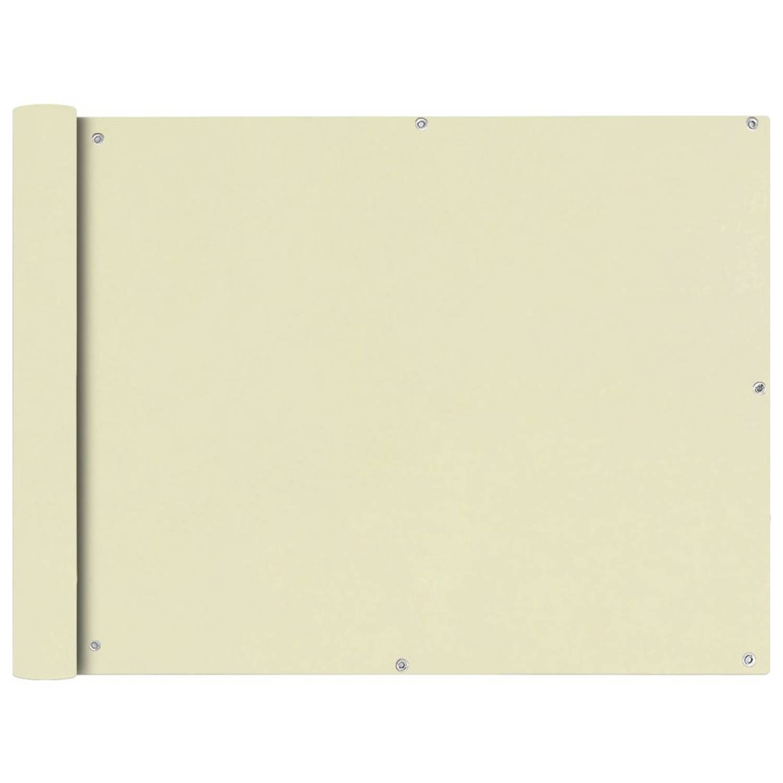 vidaXL Balkonscherm crémekleurig 90x400 cm oxfordtextiel