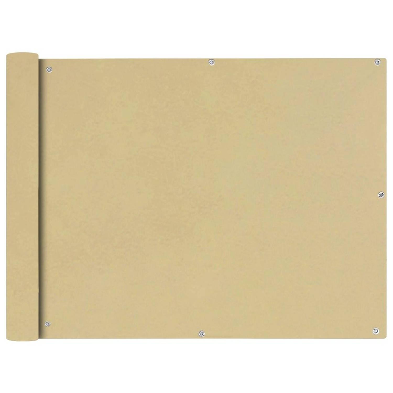 vidaXL Balkonscherm Oxford textiel 90x400 cm beige