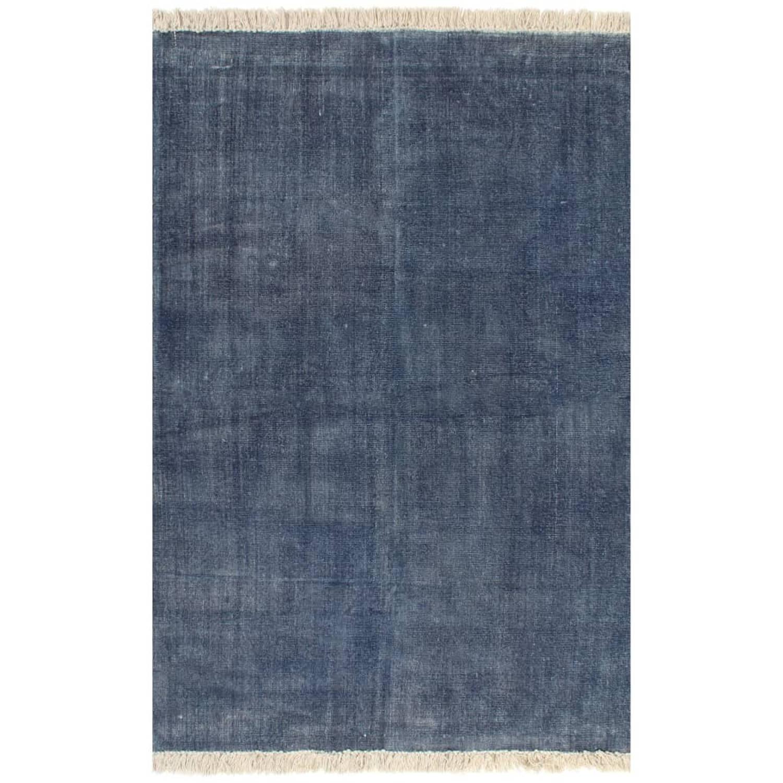 vidaXL Kelim vloerkleed 120x180 cm katoen blauw