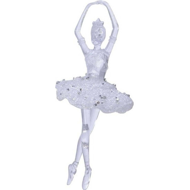 1x Kerstboomdecoratie Doorzichtige Balletdanseres 17 Cm Kerstboomversiering Kerstdecoratie