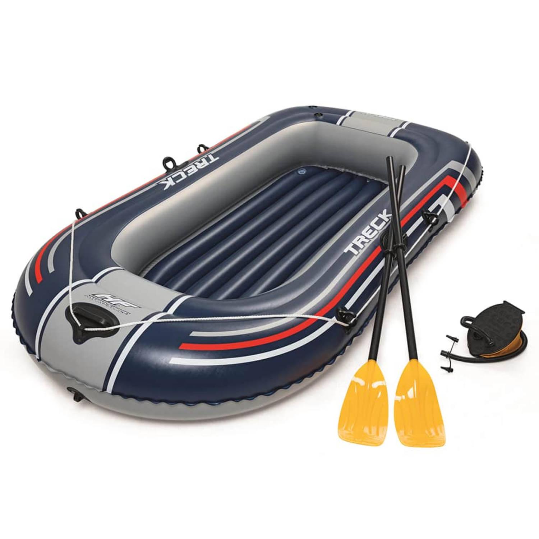 Bestway Hydro-Force Opblaasboot met pomp en roeispanen blauw 61083